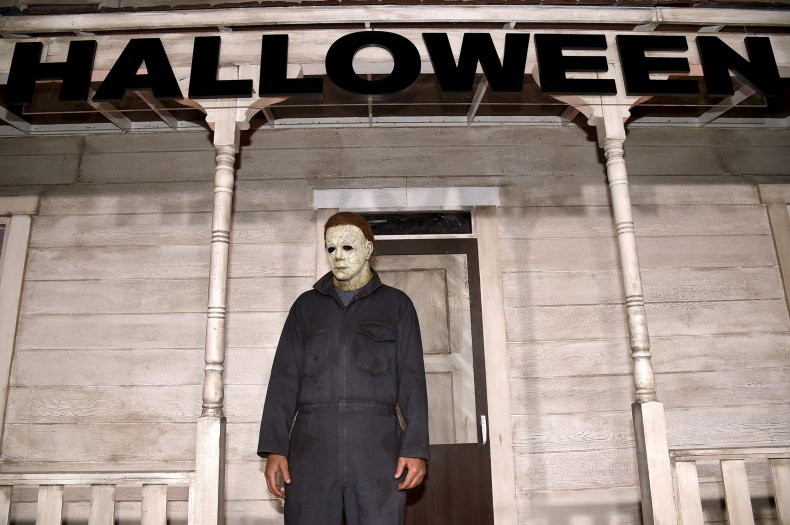 Actor dressed as Michael Myers