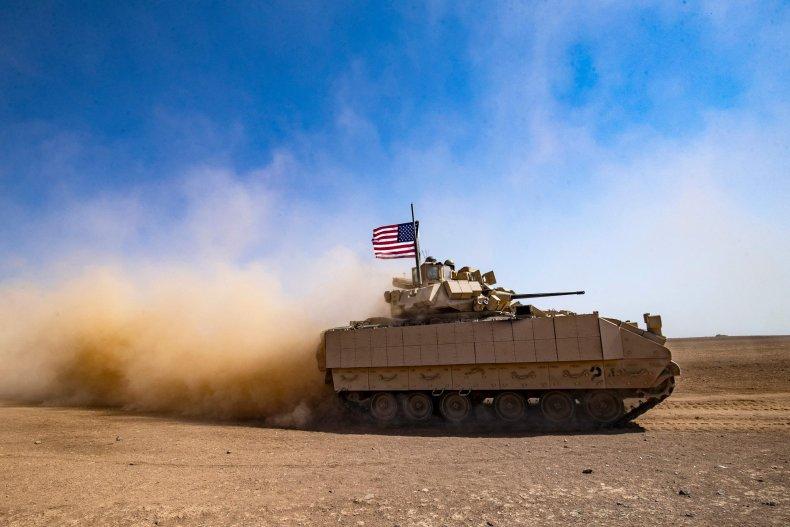 U.S. soldiers patrol