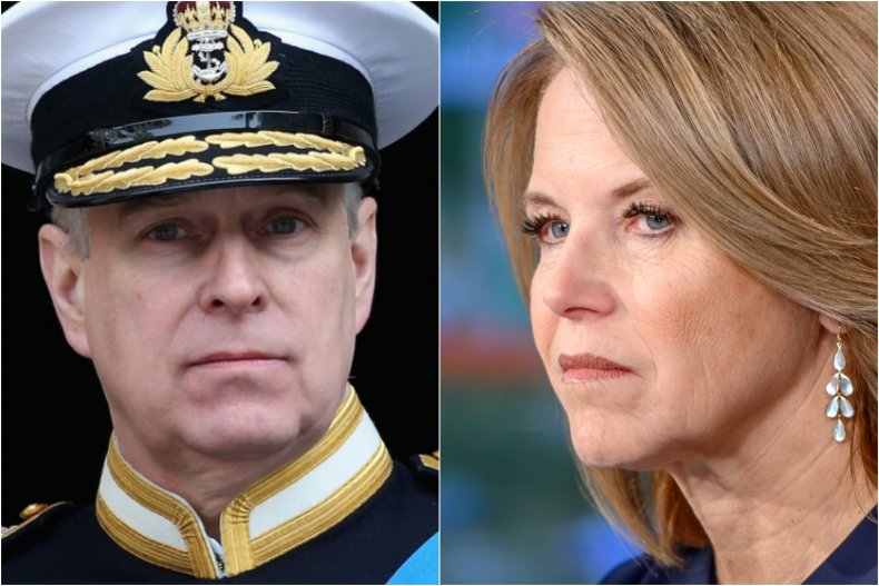 Prince Andrew and Katie Couric