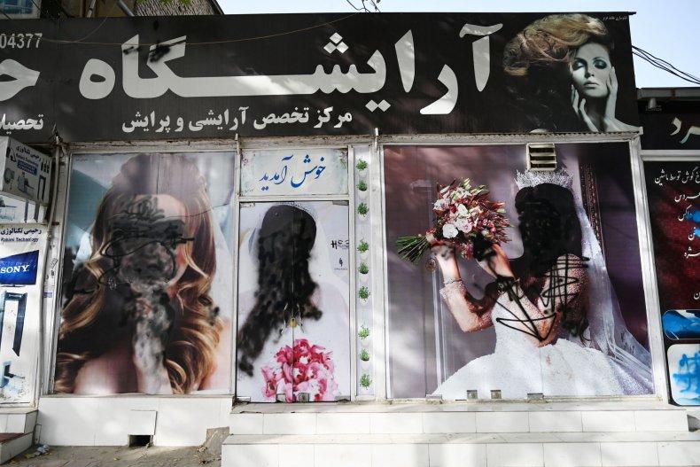 Beauty salon facade