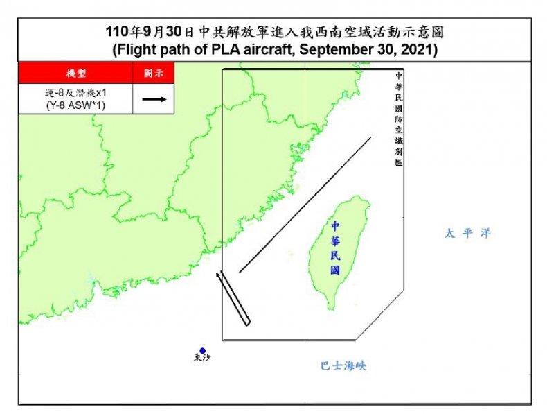 China Warplane Sorties Set Record Near Taiwan