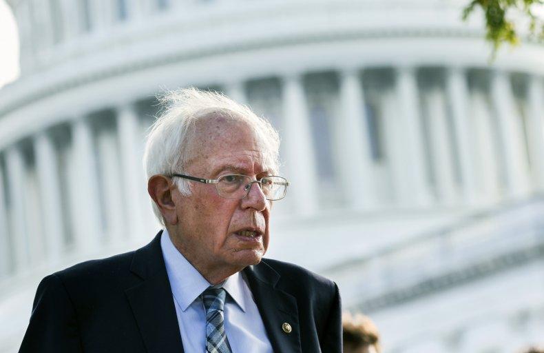 Sen. Bernie Sanders (I-VT) speaks to a