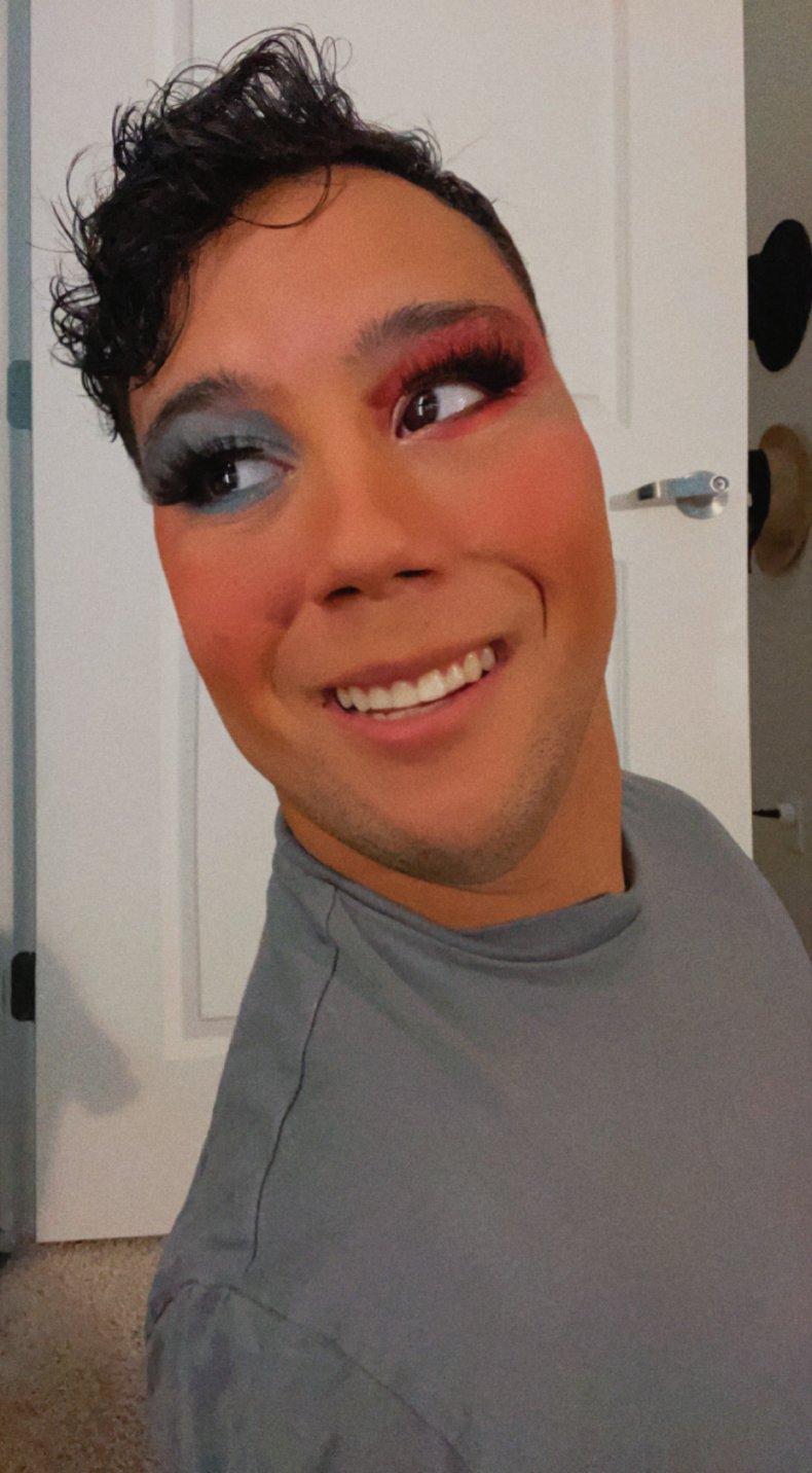 Gabe Adams-Wheately is a TikTok beauty influencer