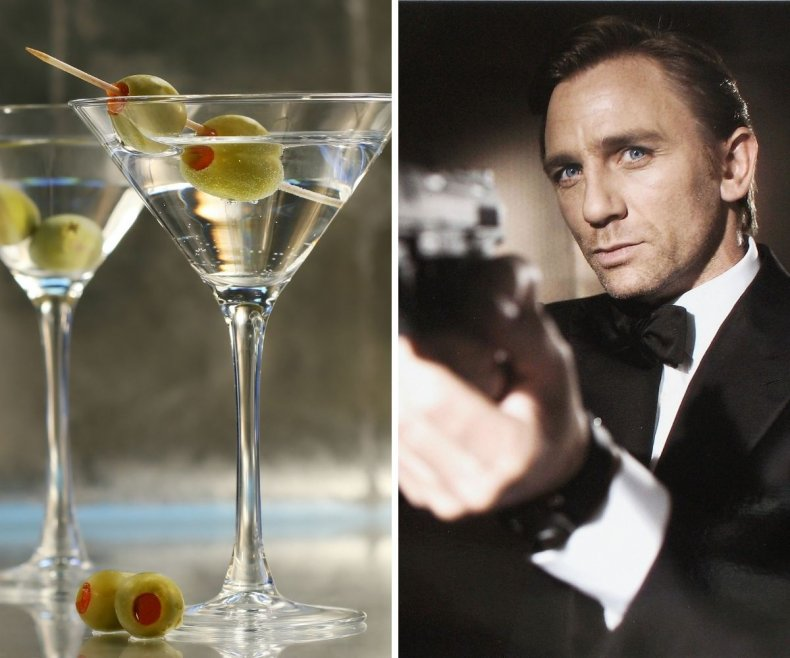 James Bond martinis