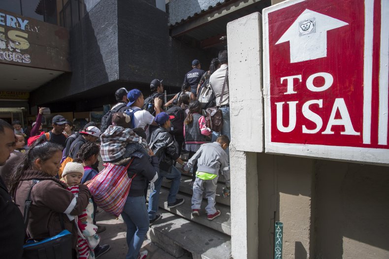 Migrants In Caravan That Travelled Through Mexico