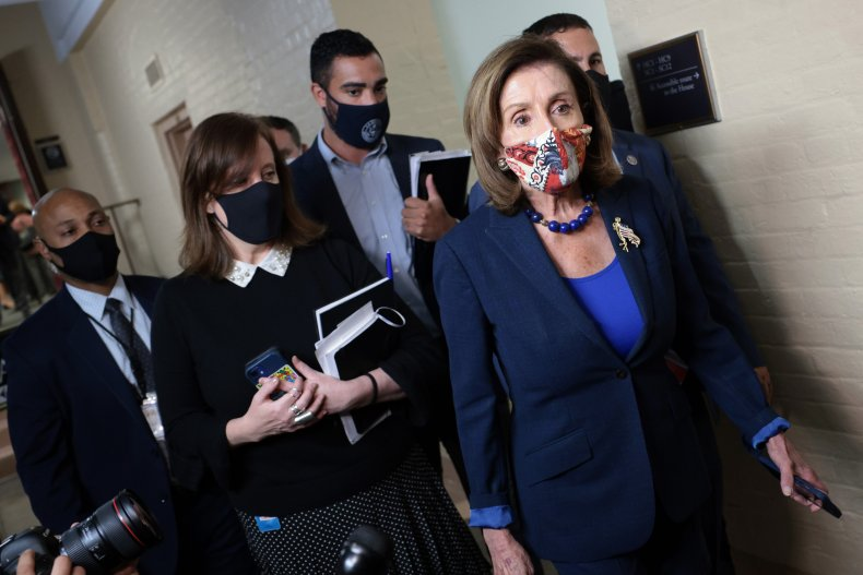 Nancy Pelosi Infrastructure Expenses Bill Progressive Manchin.