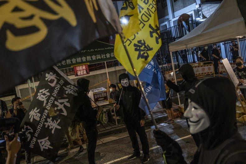 An anti-China protest in Taiwan
