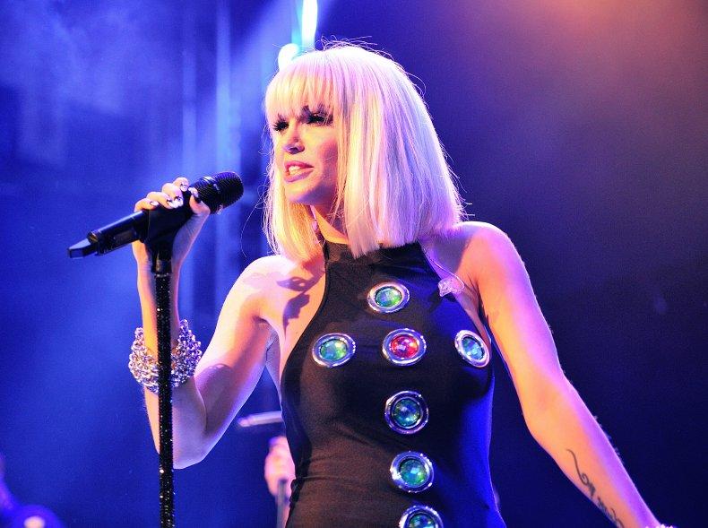 Sarah Harding performing