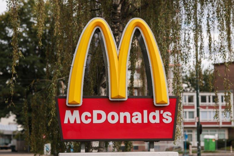A McDonald's restaurant sign.