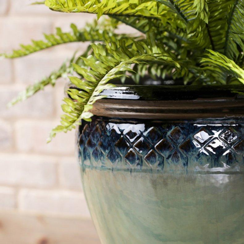 Allen + Roth Haiku Mist ceramic planter