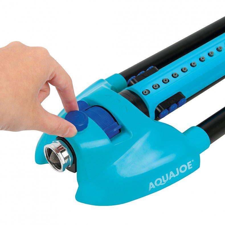 Aqua Joe Oscillating Sprinkler with Adjustable Spray.