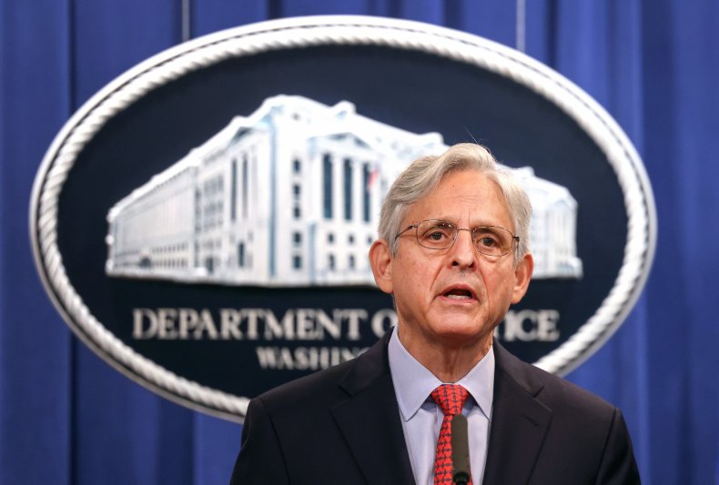Merrick Garland Speaks at a News Conference