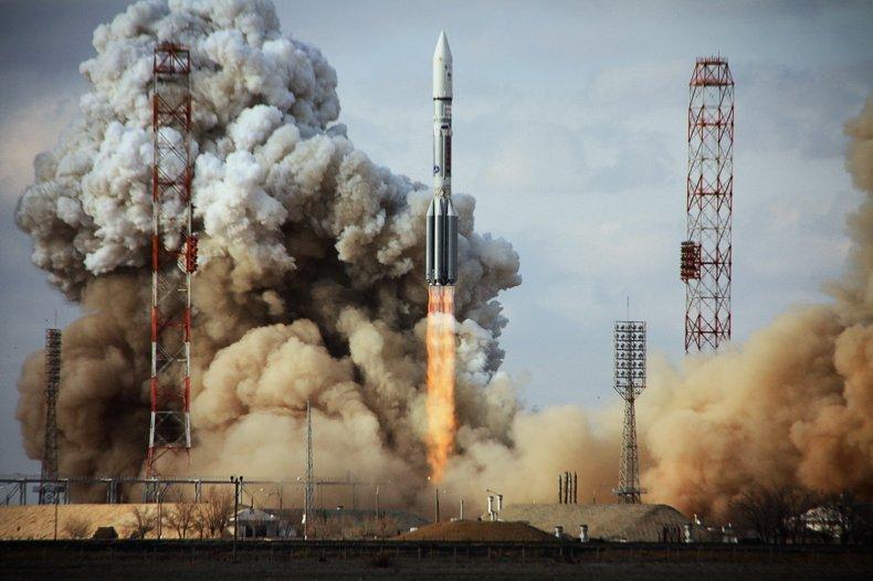 Russian Proton Rocket launch