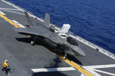 American Jets first landing on Japanese carrier