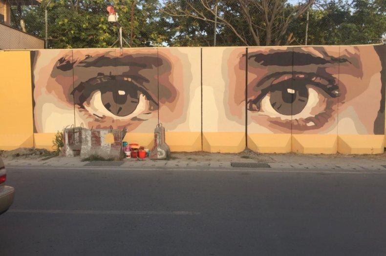 Eyes Mural Afghanistan Artlords