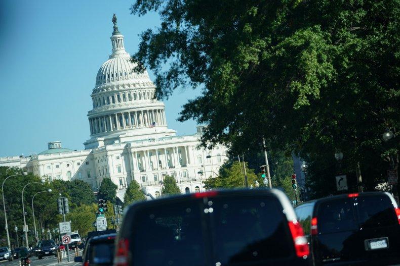 The motorcade carrying US President Joe Biden