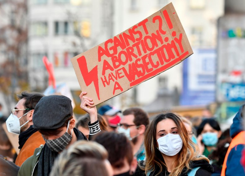 GERMANY-POLAND-ABORTION-LAW-PROTEST