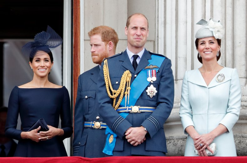 Harry and Meghan With William and Kate