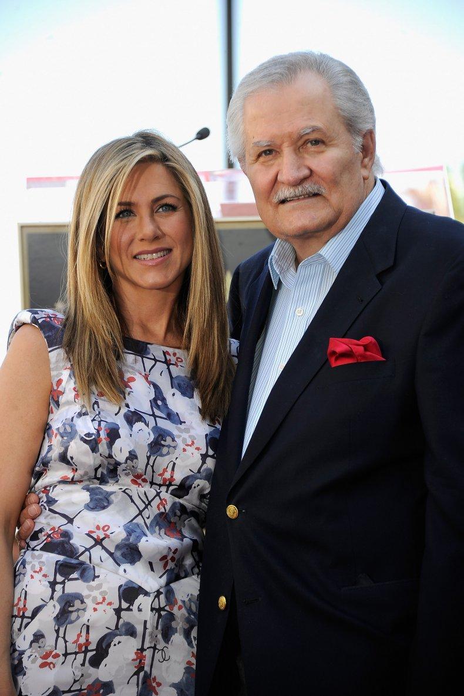Jennifer and her father John Aniston.