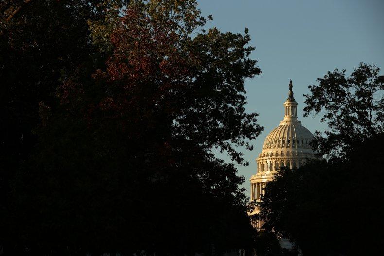 Sunrise hits the U.S. Capitol dome