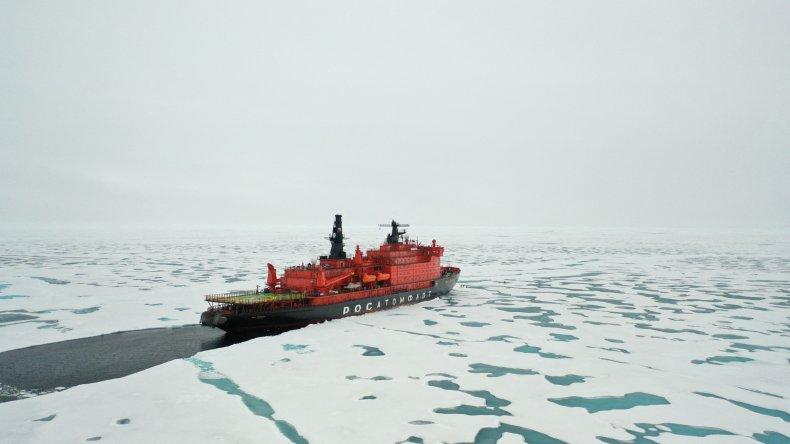Russian icebreaker in the Arctic
