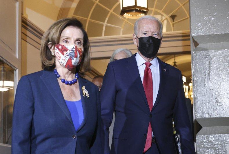 Joe Biden Walks with Nancy Pelosi