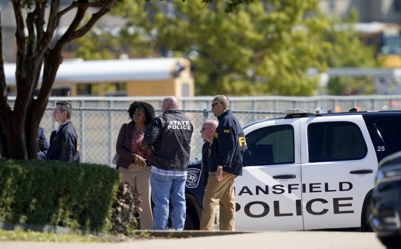 Police Gather in Timberview Lot