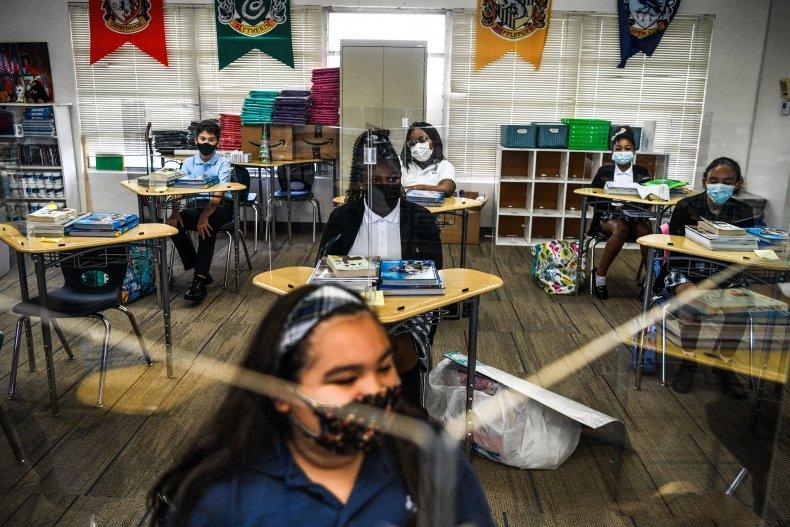 Florida classroom with masks