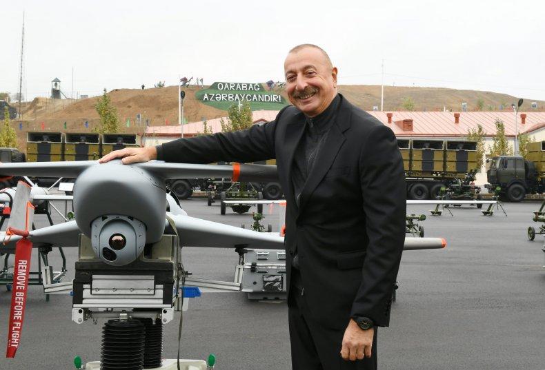 Azerbaijan, President, Ilham, Aliyev, Israeli, drone