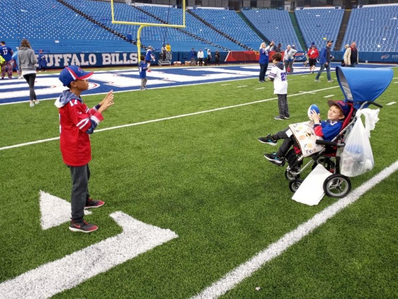 Davey Reid at Buffalo Bills Game