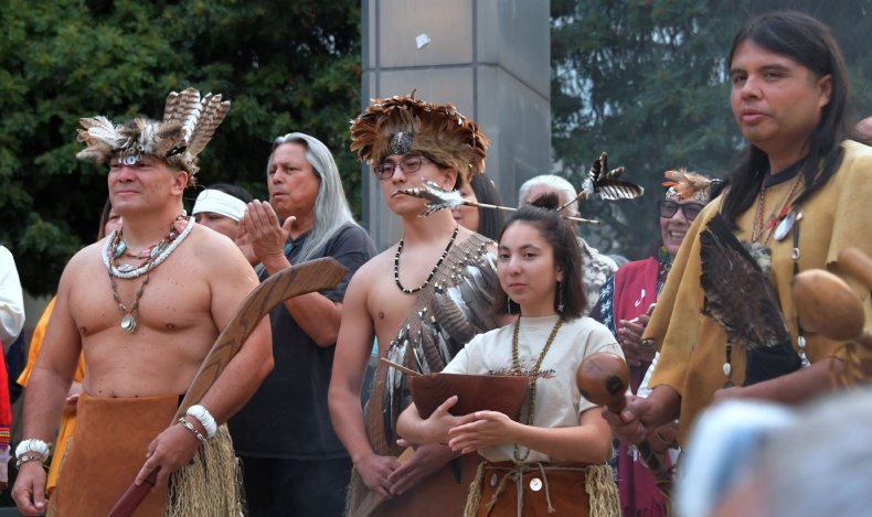 Indigenous Peoples' Day in LA in 2018.