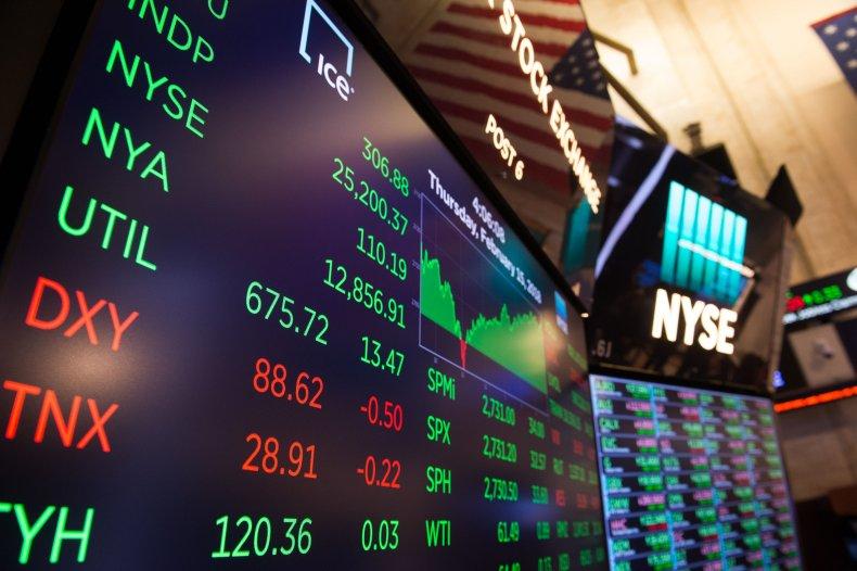 Numbers displayed at NYSE in 2018.