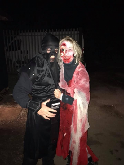 Claire and Darren at a scare event