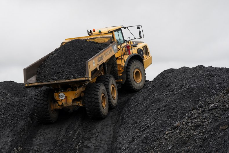 Plant Machinery Loaded with Coal
