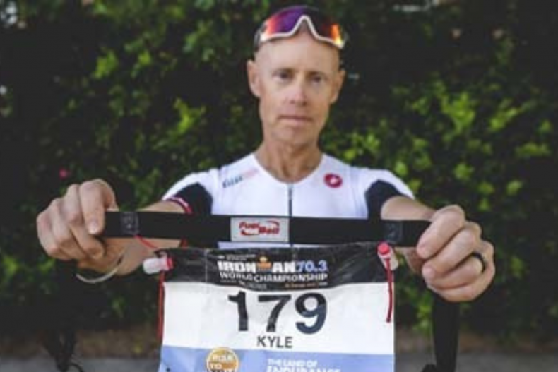 Kyle Brown completed an Ironman with ALS