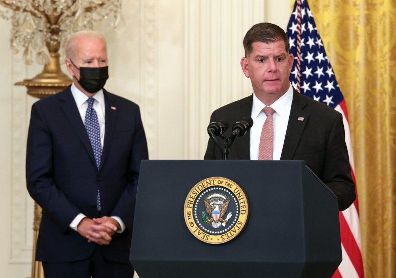 Marty Walsh Biden labor secretary jobs report