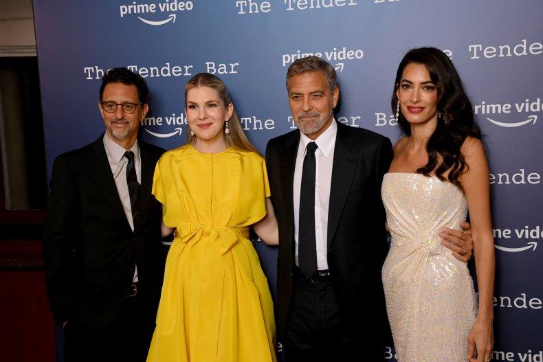 The Tender Bar cast at BFI LFF