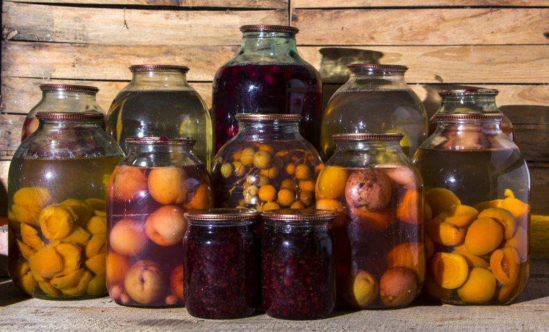 File photo of food in jars.