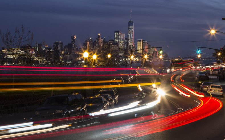Traffic moves along Boulevard East