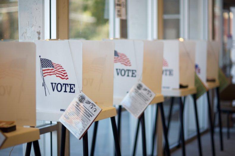 Polling place ballot boxes