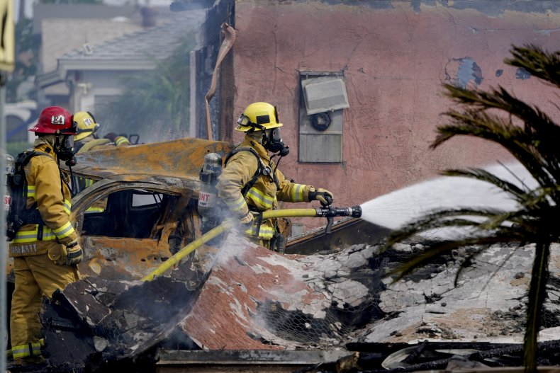 Plane crash Santee, California