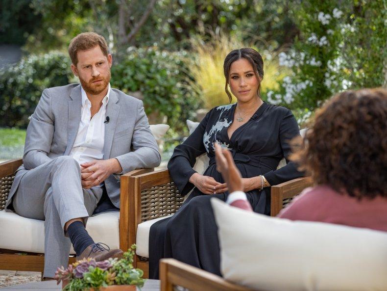 Prince Harry, Meghan Markle on Oprah