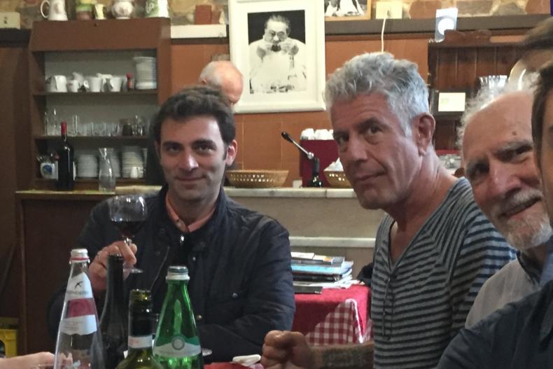 Anthony Bourdain and Tom Vitale