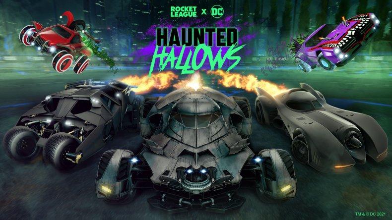 Rocket League Haunted Hallows Keyart