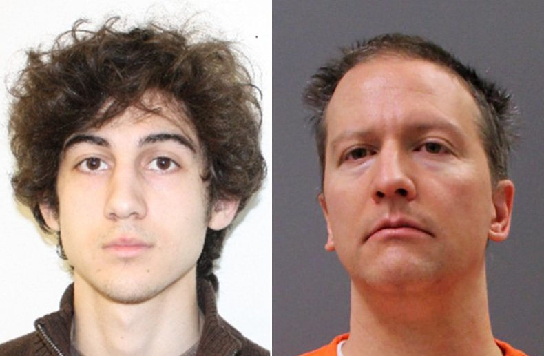 Composite Image Shows Tsarnaev and Chauvin