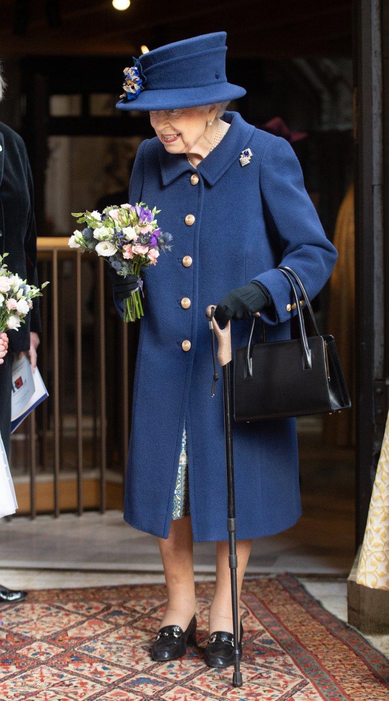 Queen Elizabeth II Spotted Using Walking Stick