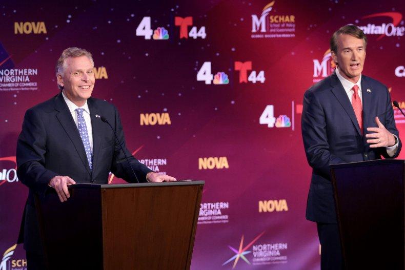Terry McAuliffe Glenn Youngkin polls Virginia