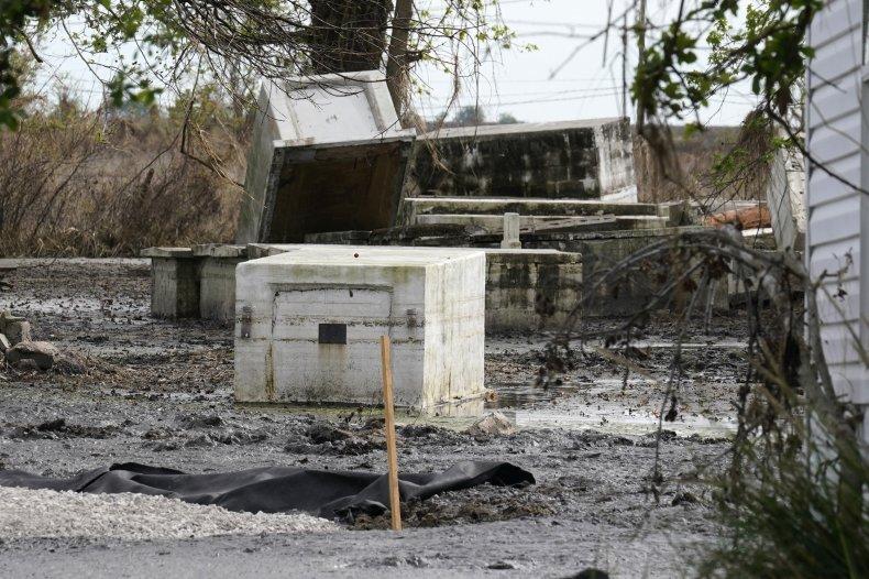 Louisiana Caskets Unburied by Floods