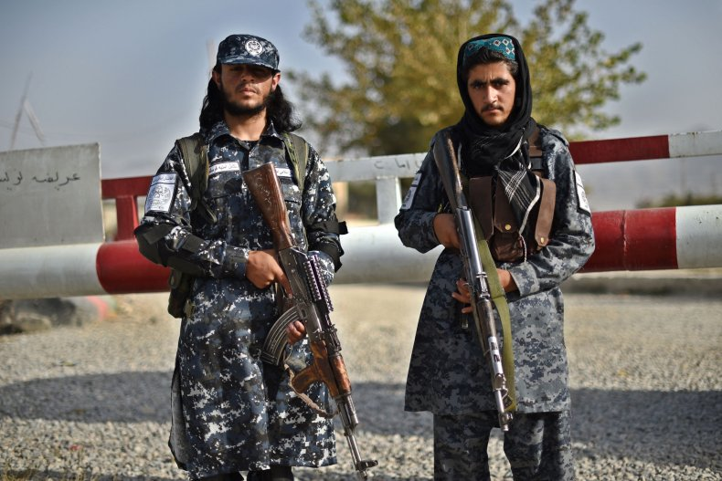 Taliban fighters police Kabul Afghanistan security