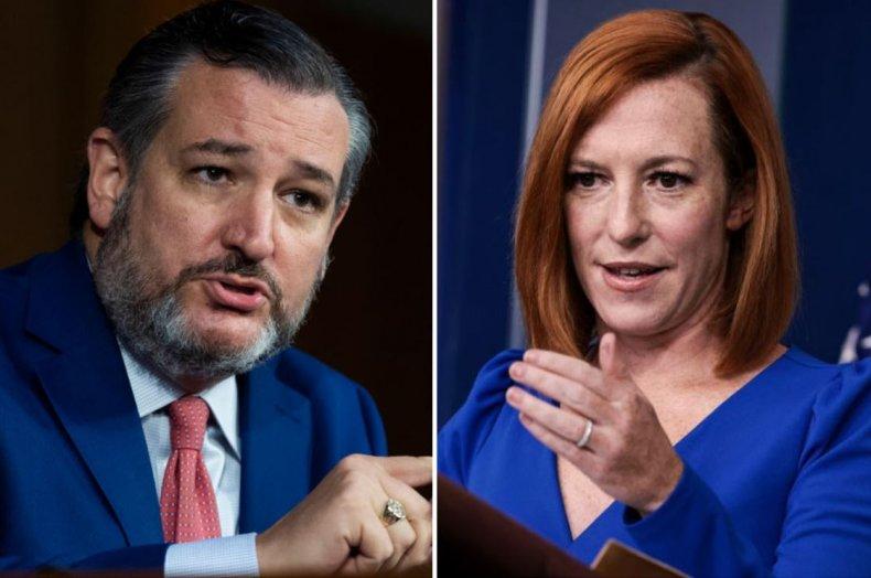 Jen Psaki mocked Senator Ted Cruz